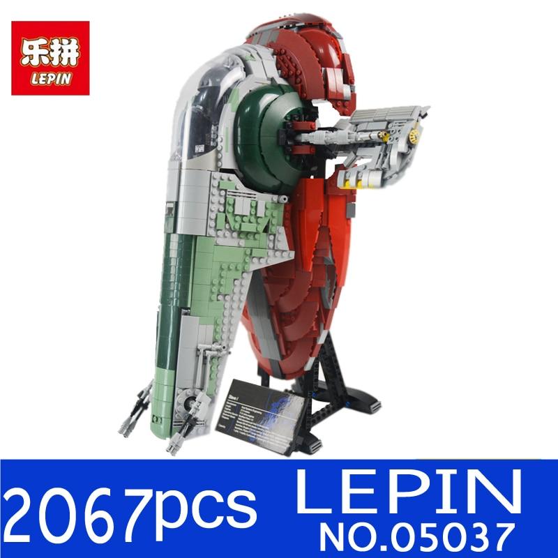 New LEPIN 05037 2067pcs 05039 Star UCS Wars Slave NO.1 Model Building Blocks Bricks Kits Compatible 75060 Children Moc Toys Gift