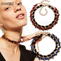 [JIMORE] 2 Pcs Detachable Choker Set Vintage Velvet Stars Pendant Choker Necklace Women Combination Jewelry Accessories YTN047