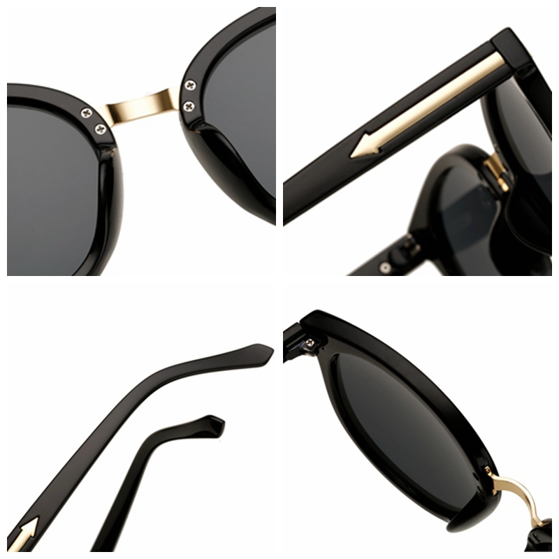 2019 New Design Arrow Sunglasses Women Polarized Sun Glasses Round Oculos Gafas De Sol Lunette De Soleil Cat Eye Sunglasses in Women 39 s Sunglasses from Apparel Accessories