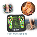 34x34cm Reflexology Walk Cobblestone Pain Relief Foot Massager Acupoint Massage Mat Pad Acupressure Health&Beauty Promote sleep