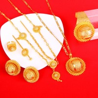 New Ethiopian Bridal Jewelry Sets Women Habesha Style Trendy African Jewelry Nigeria Sudan Eritrea Kenya Wedding