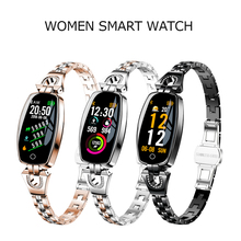 H8 Smart Watch Women Waterproof IP67 Heart Rate Bluetooth Fitness Smartwatch for Android IOS Smart Bracelet hot m9 4g smart watch waterproof ip67 sport smartwatch wireless wifi bluetooth smart watch men for andriod 6 0 support ios 1g 8g