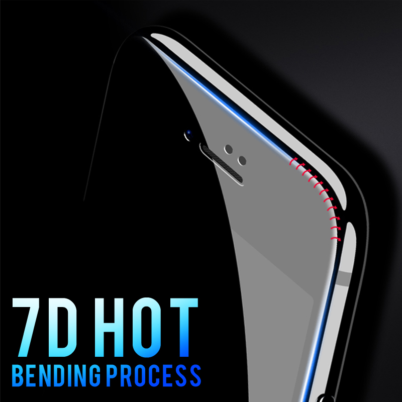 Image 2 - 7D Full Cover Curved Soft Edge Tempered Glass For iPhone 6 6S 7 8 Plus X Screen Protector For iPhone 8 7 6 6S X XS Cover Glass-in Phone Screen Protectors from Cellphones & Telecommunications