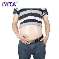 IVITA 1500g 5 7 месяцев Реалистичная из мягкого силикона живота накладной живот для имитации беременности Беременность Материнство реалистичные