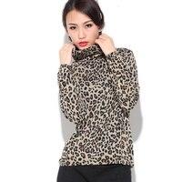Леопардовый принт Водолазка с длинным рукавом mulberry silk basic shirt hs 3859b