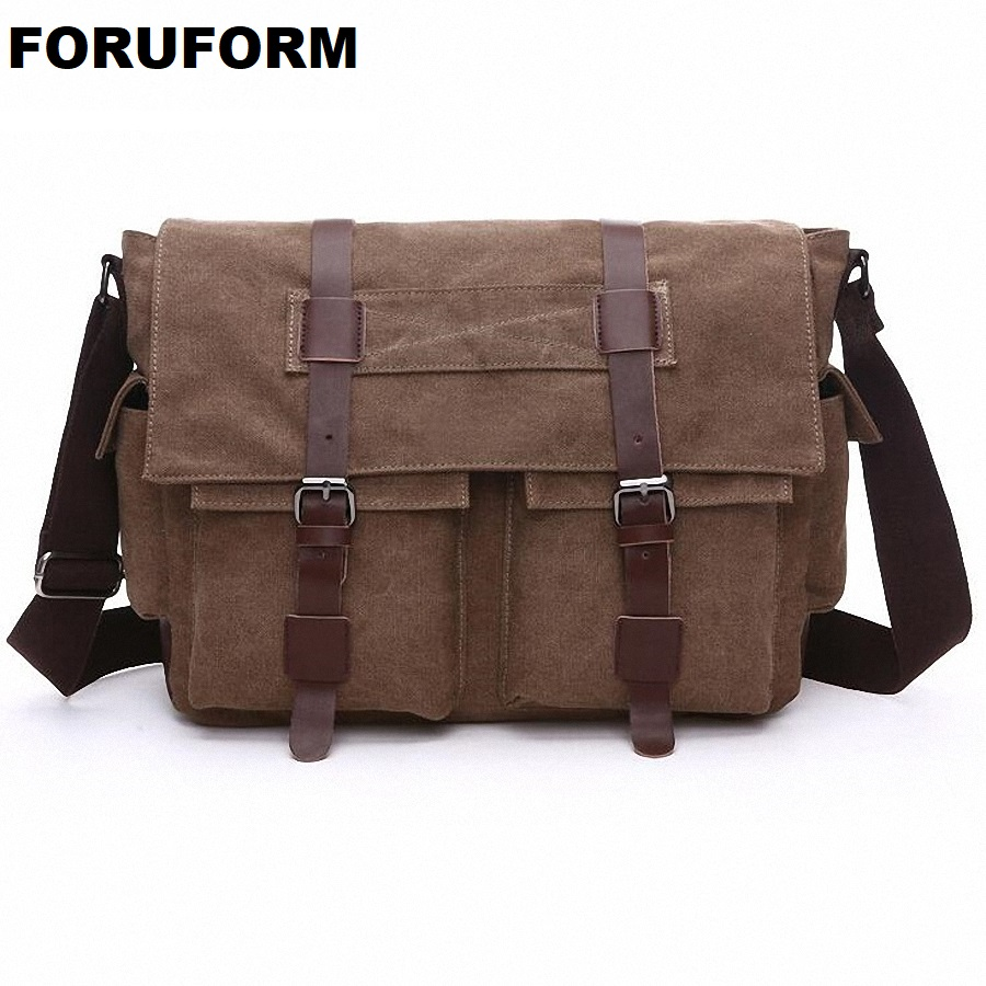 Men Bags Vinatge Canvas Messenger Bags 2018 Designer Brand Men's Fashion Crossbody Shoulder Bag Solid Male Casual Travel LI-2075 aerlis brand men handbag canvas pu leather satchel messenger sling bag versatile male casual crossbody shoulder school bags 4390
