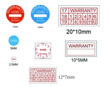 10000 PCs/lot custom size/logo tamper warranty seal sticker making/printing  free shipping