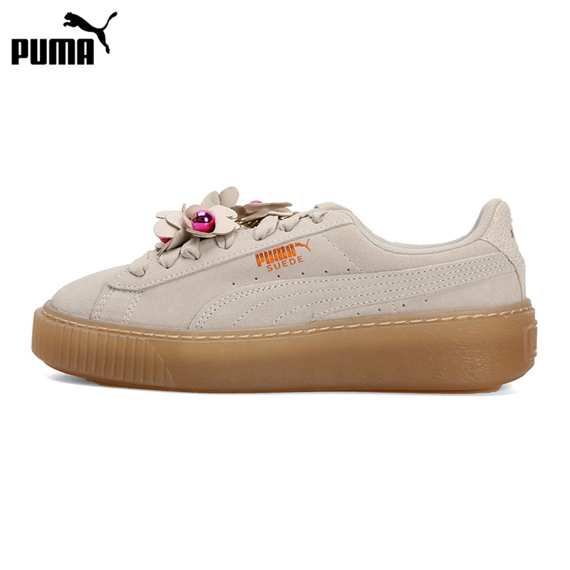 Original New Arrival PUMA Platform Flower Tassel Wns Women's Skateboarding Shoes Sneakers