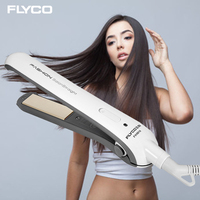 FLYCO Professional Straightening Hair Straightener Tools Wet And Dry Ceramic Heating Plate Iron Brosse Lisseur Cheveux