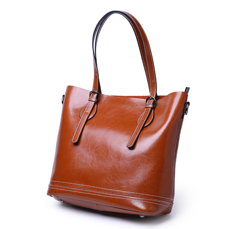 2018 Genuine Leather Women Bags Female Handbags High Quality Natural Leather Shoulder Bags Large Capacity Ladies Casual Tote genuine leather women bags classic large capacity ladies handbags high quality natural leather shoulder bag female casual tote