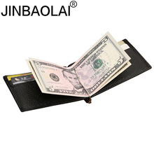 Genuine Leather Men Wallet Purse Case Bill With Male Slim Clamp For font b Money b