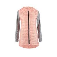2016 Winter Jacket Women's Cotton Basic Coats Female Runway Fashion Patchwork Apparel Women Down Jacket Zipper