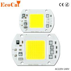 COB светодиодный чип 50 Вт 220 в 30 Вт 20 Вт 10 Вт 3 Вт Smart IC нет светодиодный необходимости драйвер светодиодные лампы для DIY прожектор