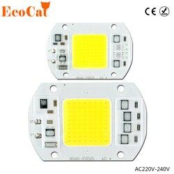 COB светодиодный чип 50 Вт, 220 В, 30 Вт, 20 Вт, 10 Вт, 3 Вт, Smart IC, не нужен драйвер, светодиодный светильник для DIY, прожектор