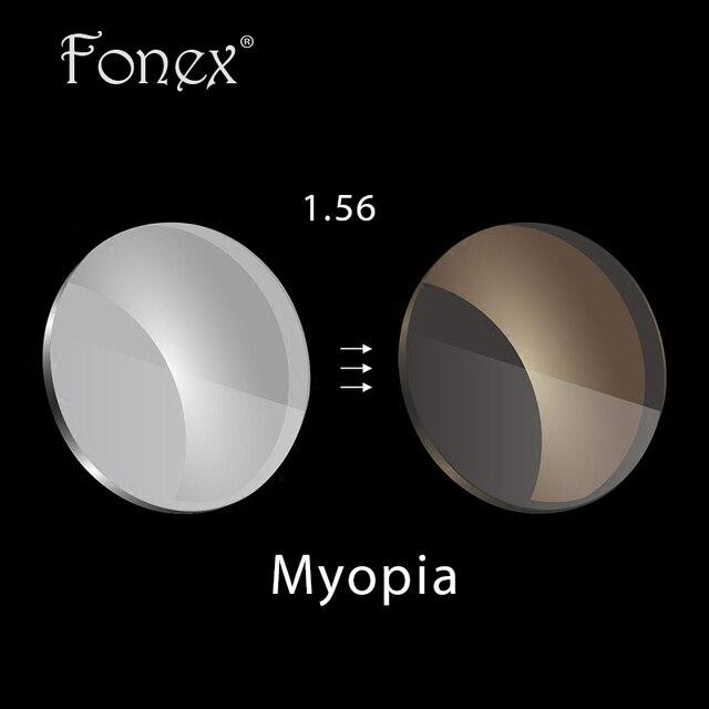 Fonex 1.56 асферические поверхности серый/коричневый фотохромные линзы по рецепту близорукость очки линзы УФ-защита
