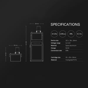 Image 3 - Original Smoant Pasito vape Kit with 1100mAh Top Adjustable  Airflow control system 3ml capacity E Cigarette VS Tesla 4X kit