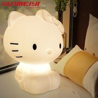 2018 Cute Bear LED Night Light Children's Room Cartoon Lamp Christmas Gift Novelty Table Lamp Creative Desk Lamp 3D Lamp