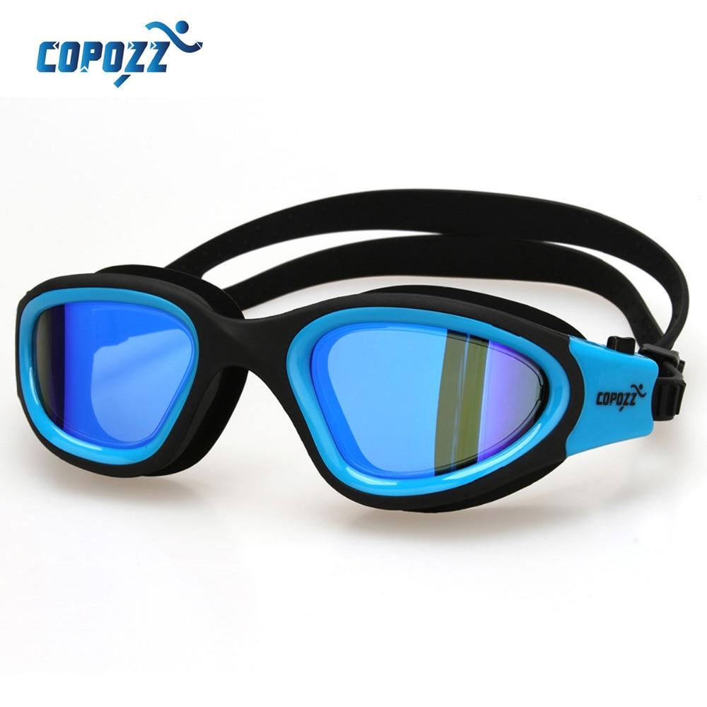fe007aeb93fe8 Copozz espelhado Óculos De Natação Anti-Nevoeiro Óculos Das Mulheres Dos  Homens de Óculos de Silicone À Prova D  Água Confortável Adulto Chapeamento