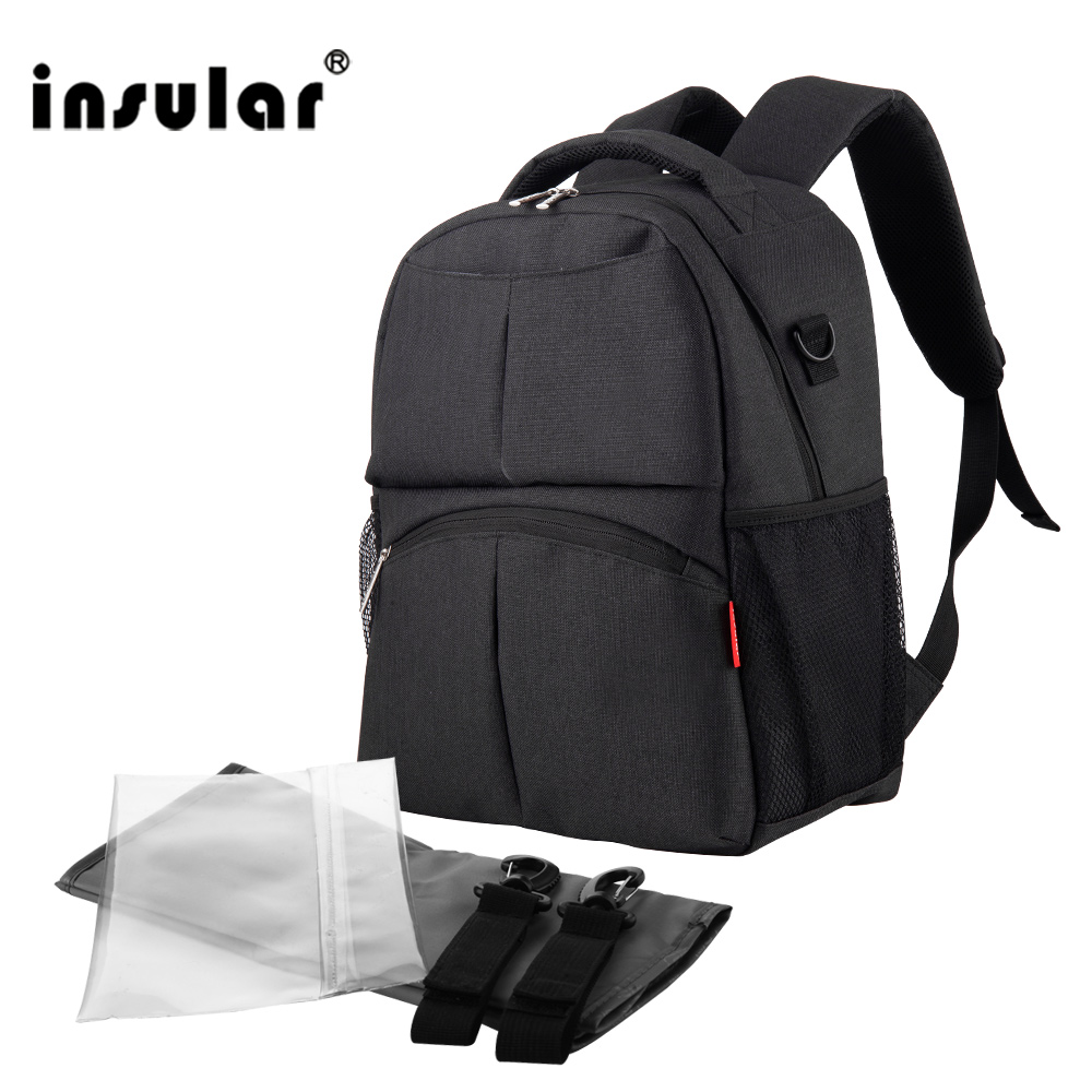ФОТО solid color diaper bag for mother new design nappy change backpack multifunctional baby care stroller bag