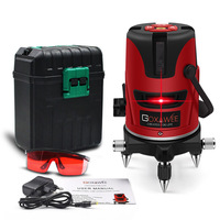 GOXAWEE 5 Lines 6 Points Laser Level 360 Vertical & Horizontal Rotary Cross Laser Line Leveling Outdoor Mode Laser Tools