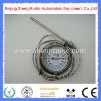 Termómetro bimetal capilar remoto de 4