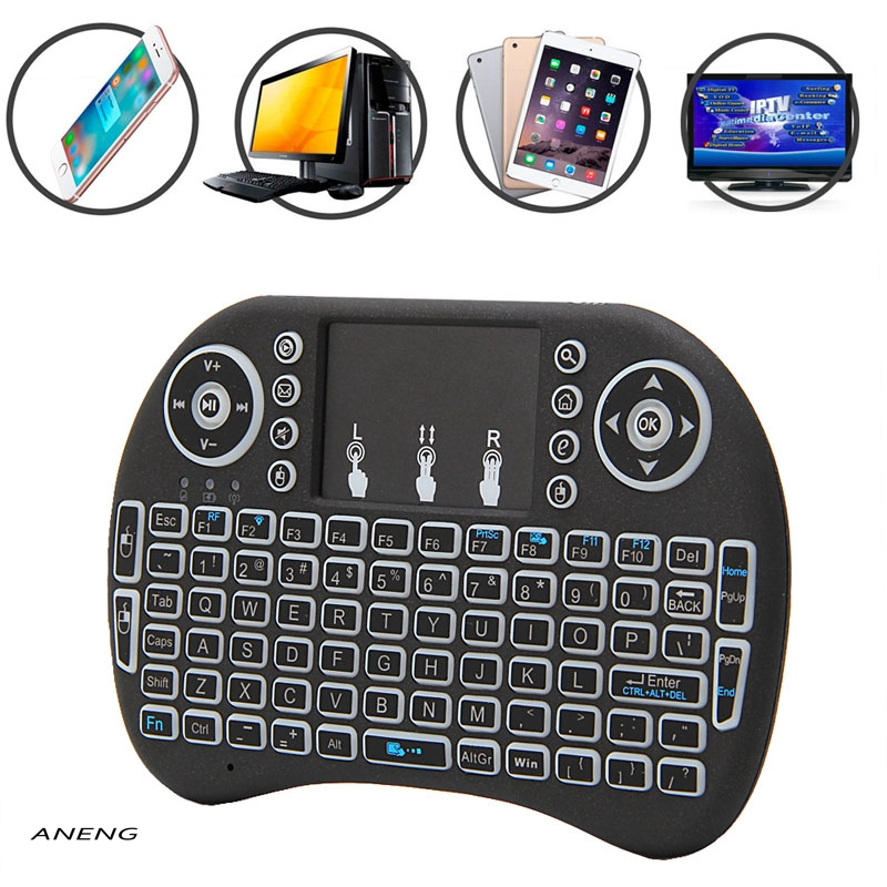 ANENG Product NEW Mini 2.4G 3 Color Backlit Wireless Touchpad Keyboard Air Mouse For PC Pad Android TV BoxX360PS345