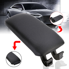 Mayitr 1pc Black PU Leather Center Console Storage Box Car Pad High Quality Armrest Lid Cover Cap For Audi A3 8P 2003-2012