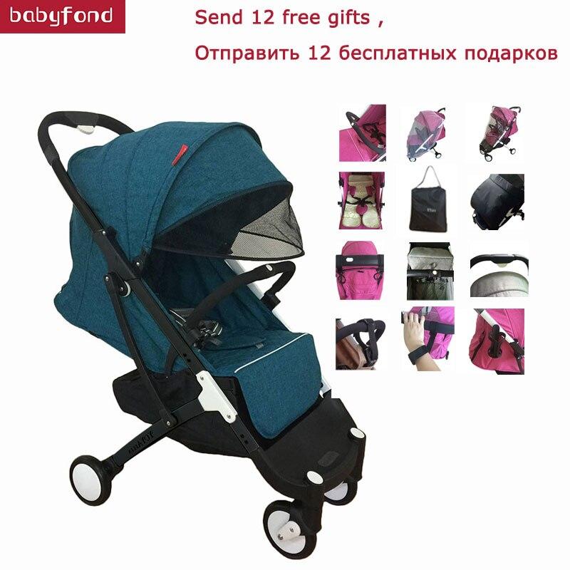 Plus baby stroller 0-36 months baby use 175 degree newborn sleeping baby pram cart plus stroller cart