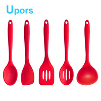 High Quality 6pcs Silicone Kitchenware Suit Kitchen Tools Set Accessories Silicone Cover Nylon Cooking Tool Set
