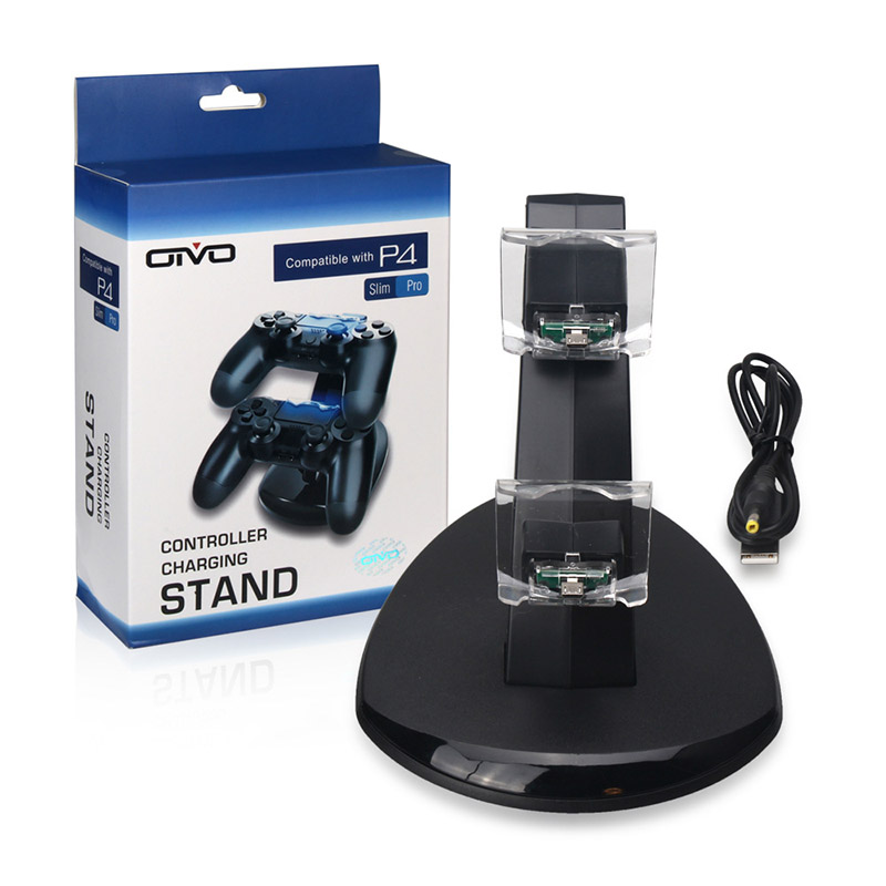 Image 5 - Controller Charger Dock LED Dual USB PS4 Stand up Charger For Sony PlayStation 4 / PS4 Pro Wireless Game Handle Joystick holder-in Chargers from Consumer Electronics