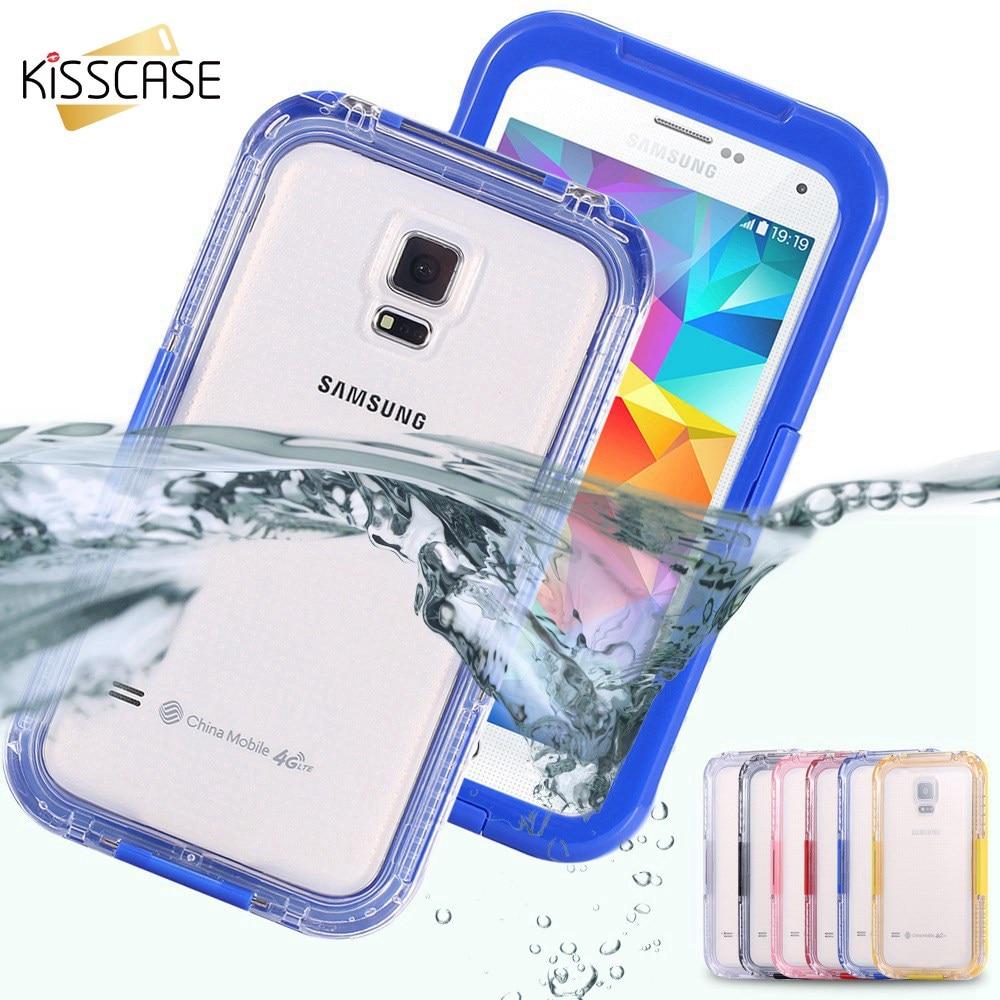 imágenes para KISSCASE Agua Caso Prueba Para Samsung Galaxy S3 S4 S5 S6 Edge Cases Plus Nota 5 Para el iphone 6 7 7 iPhone 6 S 6 Más conchas