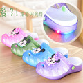 2017 Summer Children Slippers Girls Boys Cute Cartoon Fashion flashing lights Kids Sandals Anti-Slip Home Shoes Baby Beach Shoes