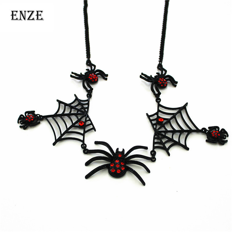 ENZE 2015 free shipping new black spider necklace series for women