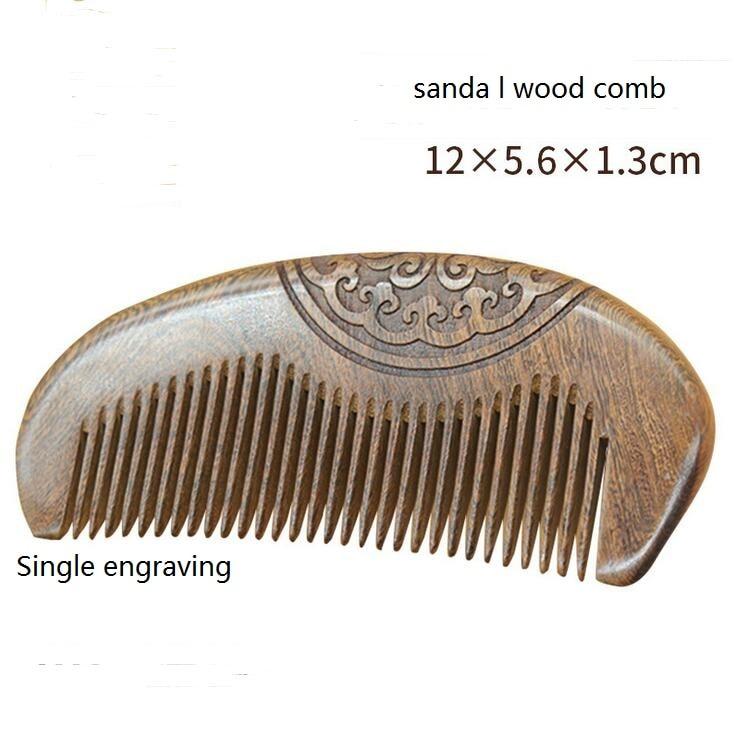 Soins de sant/é Naturel Bois de santal Peigne /à cheveux antistatique Peigne /à barbe Peigne de brosse /à cheveux Brosse /à cheveux Homme Femme