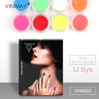 VINIMAY Colorful Nail Powder Pigment Manicure Accessories Decoration Decor For Nails Art Charms Ornaments VN8603