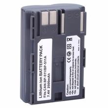 Лидер продаж, 1 шт., аккумулятор BP511A для Canon EOS 40D 300D 5D 20D 30D 50D 2500 мАч, аксессуары для canon, оптовая продажа