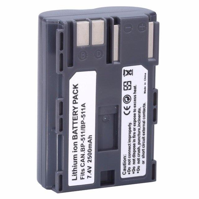 Hot sell 1pcs BP 511 BP511A Battery for Canon EOS 40D 300D 5D 20D 30D 50D 2500mAh, for canon accessories + wholesale