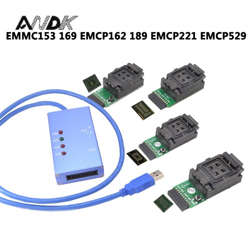 EMMC153 169 EMCP162 189 EMCP221 EMCP529 socket 6 in 1 data recovery tools for android phone eMMC programmer Socket High Speed free shipping program ch2015 usb high speed programmer 300mil fp16 to dip8 socket eeorom spi flash data flash avr mcu programmer