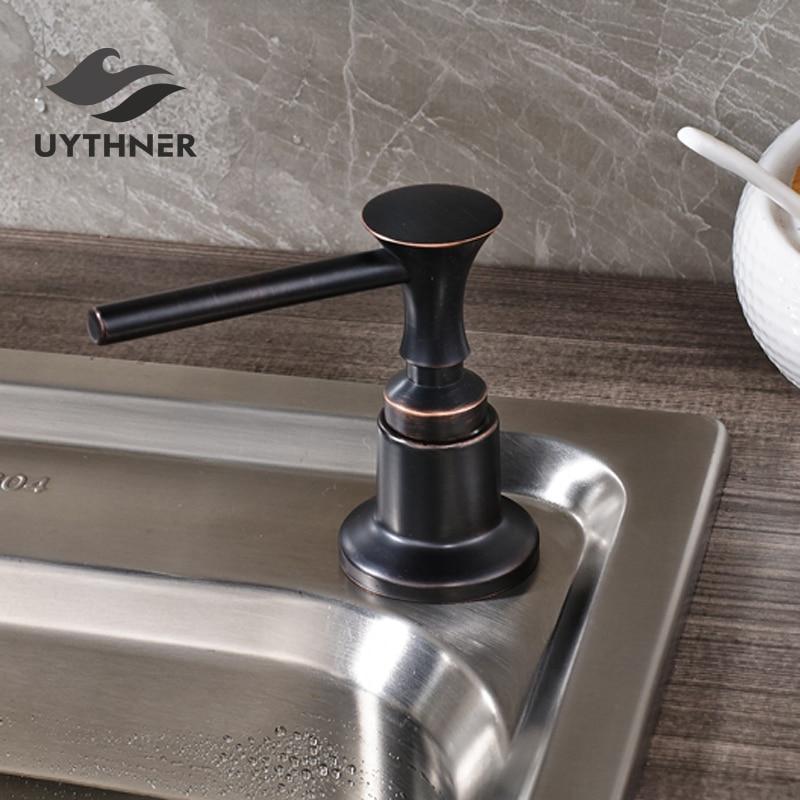 US $10.2 35% OFF|Oil Rubbed Bronze Kitchen Soap Dispenser 220ML Plastic  Bottle Kitchen Sink Liquid Soap Dispenser Deck Mount-in Liquid Soap  Dispensers ...