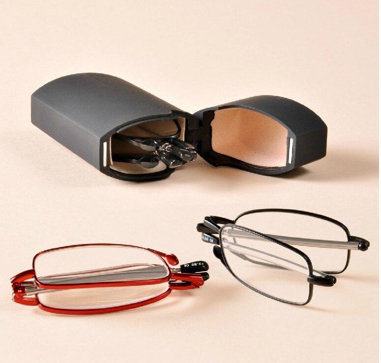 2016 MINI Design Reading Glasses Men Women Folding Small Glasses Frame Black Metal Glasses With Original Box Gafas