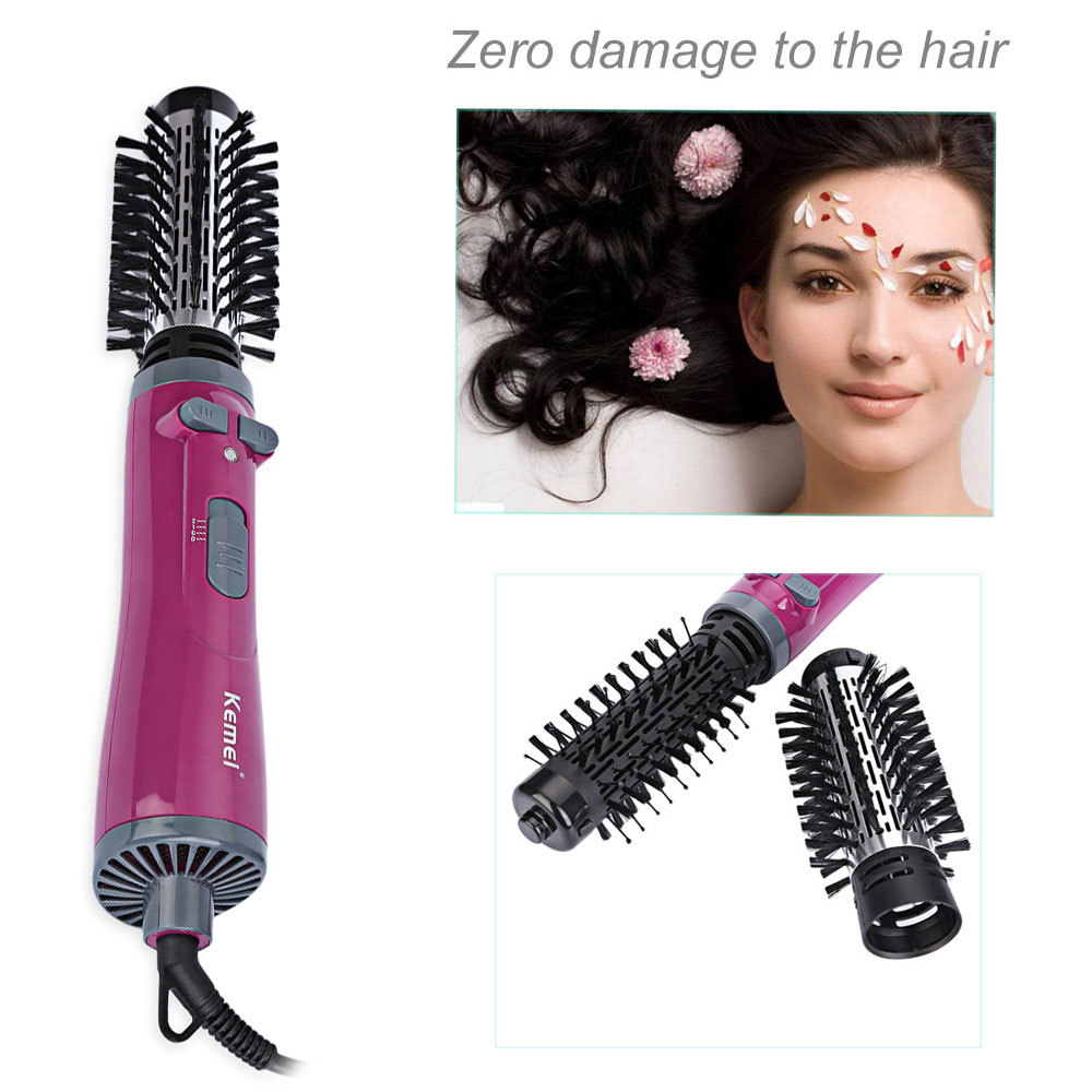 Kemei KM - 8000 Professional Auto-rotating Electric Comb Hairbrush Blow Dryer Wand Hair Curler Iron Roller Styling Tools EU PLUG braun 3in1 multifunctional hair styling tool hairdryer hair curler hair dryer blow dryer comb brush hairbrush professional as720