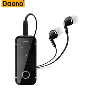 DAONO i6s bezprzewodowy zestaw słuchawkowy Mini Bluetooth Sport Auriculares zestaw głośnomówiący przenośne słuchawki klip słuchawki bezprzewodowe