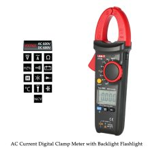 Digital Clamp Meter Multi-Multimeter AC/DC Current Tongs Voltage Resistance Capacitance Diode Continuity NCV Temperature Tester цены