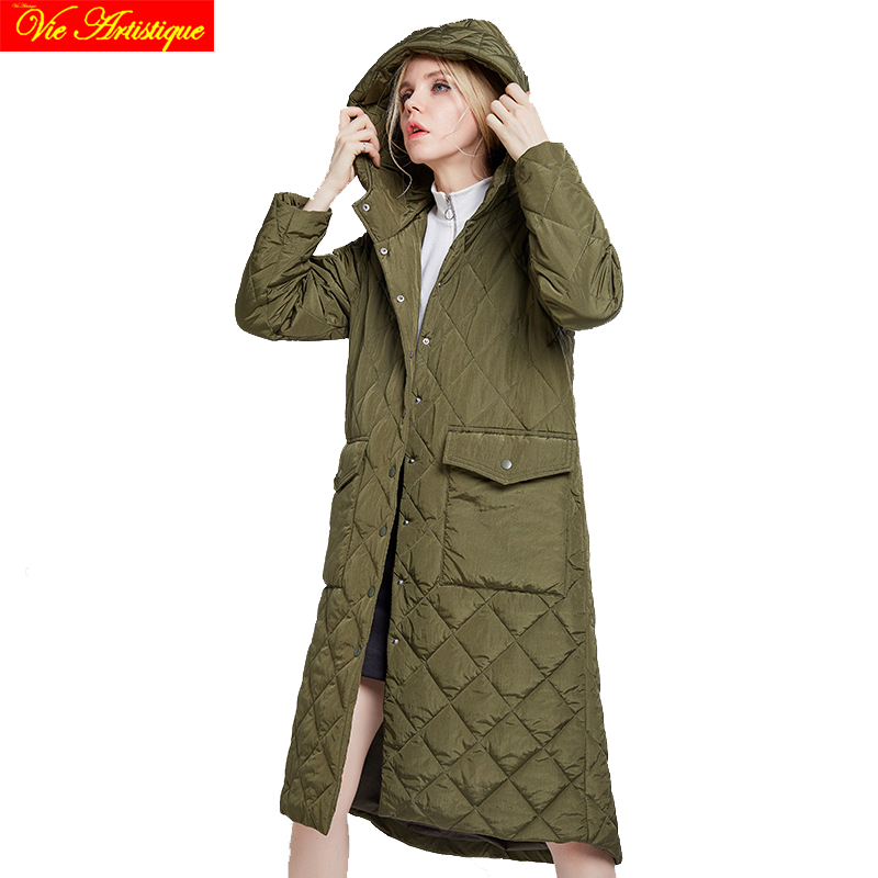 winter jacket woman parka femme hiver womens casual long coats and jackets plus big size black army jazzevar miegofce 2018 VA
