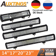 "Auxtings 5 ""14"" 17 ""20"" 23 ''3-Rij Led Licht Bar Offroad Led Bar combo Beam Led Werk Light Bar Voor Truck Suv Atv 4X4 4WD 12 V 24V(China)"
