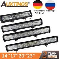 Auxtings 5 14 17 20 23'' 3 Row LED Light Bar Offroad Led Bar Combo Beam Led Work Light Bar for Truck SUV ATV 4x4 4WD 12v 24V
