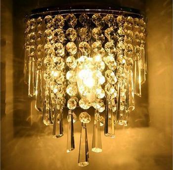 Современный минималистский Кристалл Бра Гостиная спальня прикроватные проход освещение дорожки светодиодный светильник светодиодный нас...