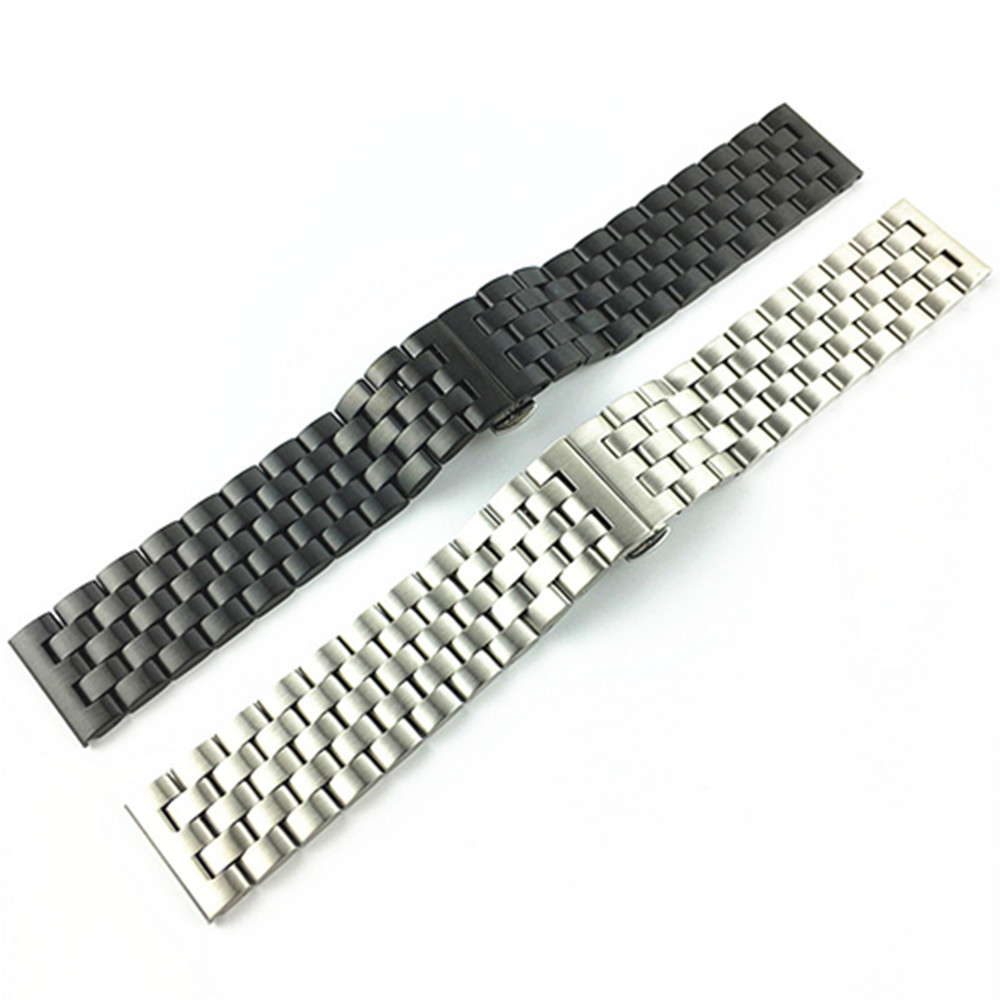 Stainless Steel Watch Band Bracelet 18 20 22 24mm Solid Watchbands Strap Accessories women watches