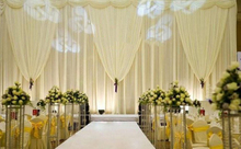 Top-Rated 3M(H) * 6M(W) Pure White simple style Wedding Backdrop wedding Stage curtain wedding decoration(China)