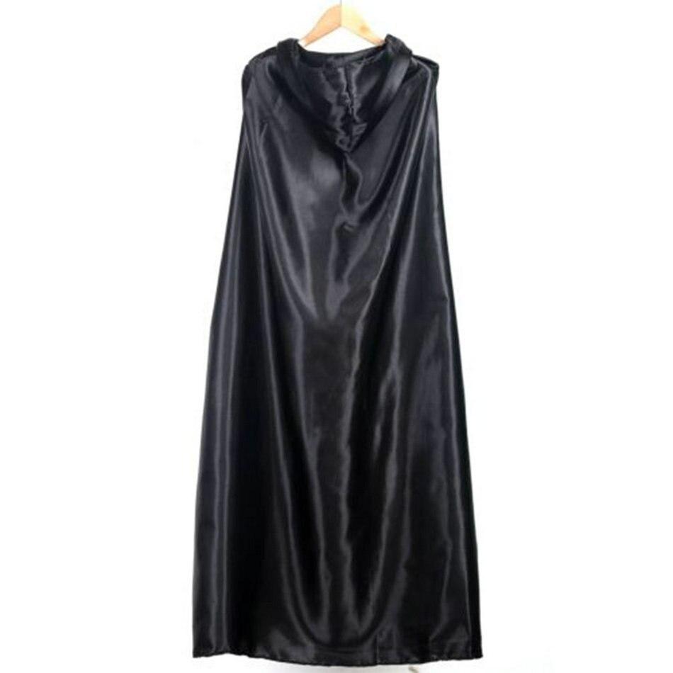 Groothandel Nieuwe Zwarte Halloween Kostuum Theater Prop Death Hoody Mantel Duivel Lange Tippet Cape Cosplay 2018 Fashion Dropshipping